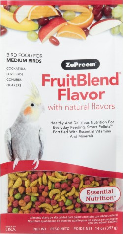 Zupreem fruitblend with natural fruit flavors md parrot - 14 ounce, 12 ea