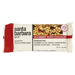 Santa barbara bar - superfood rich bar cranberry white chocolate - 1 .58 oz