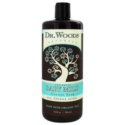 Dr. Woods organic castile soap baby mild unscented- 32oz