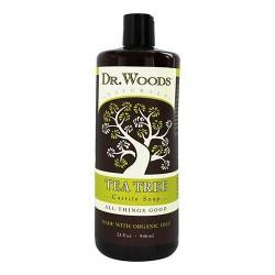 Dr.woods naturals tea tree castile soap, with organic oils - 32 oz
