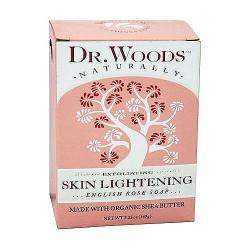 Dr. Woods Naturally Bar Soap Skin Lightening, English Rose - 5.25 oz