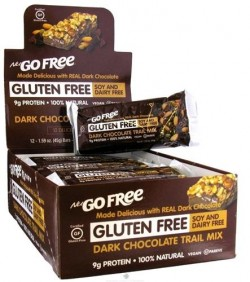 Nugo Nutrition Trail Mix Bar - Gluten Free - Dark Chocolate - Case of 12 - 1.59 oz, 12 pack