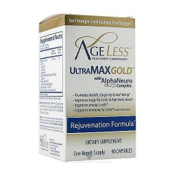 Ageless foundation ultramax gold with alphaneuro complex capsules - 90 ea