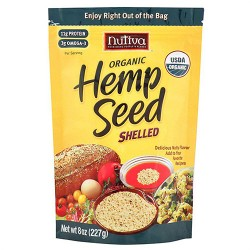 Nutiva Organic Hempseed, Raw Shelled - 8 oz