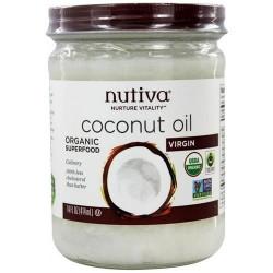 Nutiva Coconut Oil Organic Extra Virgin - 15 oz, 6 pack