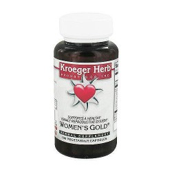 Kroeger herbs womens gold herbal supplement capsules - 100 ea