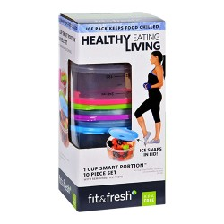 Fit and fresh containers healthy living smart portion 1 cup size - 1 ea