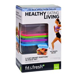 Fit and fresh containers healthy living smart portion 2 cup size - 1 ea