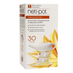 Himalayan Chandar Porcelain Neti Pot With 30 Neti Salt Sachets - 1 ea