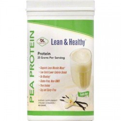 Olympian labs vanilla pea protein dietary supplement - 490 gm, pack of 1