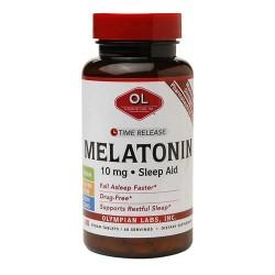 Olympian labs melatonin 10mg time release sleep aid vegan tablets- 60 ea