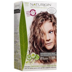 Naturigin permanent natural organic based hair color, light ash blonde 8.1 transformation - 1 ea