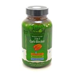 Irwin naturals maximum stregnth 3 in 1 carb blocker soft gels - 75 ea