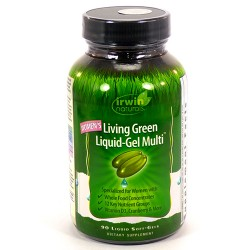 Irwin naturals  living green liquid gel multi soft for women - 90 ea