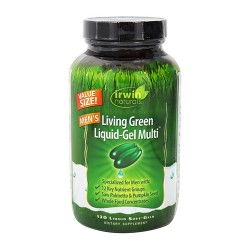 Irwin naturals living green liquid gel multi for men - 120 ea