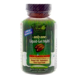 Irwin Naturals Only One Liquid Gel Multi with Iron - 60 Softgels
