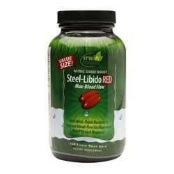 Irwin naturals steel libido red max blood flow, softgels - 150 ea