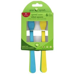 Green sprouts - sprout ware infant spoons aqua assortment - 6 pack