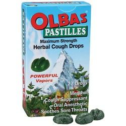 Olbas Pastilles Maximum Strength Herbal Cough Drops - 1.6 Oz
