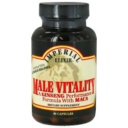Imperial Elixir Male Vitality Ginseng Performance Formula With Maca - 90 Capsules