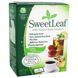 Wisdom Naturals SweetLeaf Stevia Sweetener packets - 2.5 Oz,70 ea