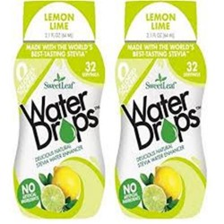 Wisdom natural sweetleaf water drops lemon lime  -  2.1 oz ,6 pack