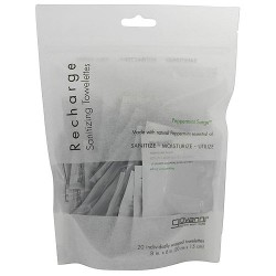 Giovanni recharge Organic peppermint surge mini towelettes, 20 wipes