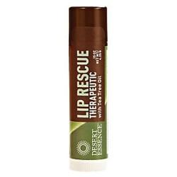 Desert essence lip rescue therapeutic with tea tree oil - 0.15 oz