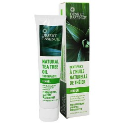 Desert Essence natural tea tree oil toothpaste with baking soda - 6.25 oz
