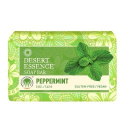 Desert essence bar soap, peppermint - 5 oz