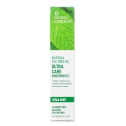 Desert essence natural tea tree oil ultra care toothpaste, mega mint - 6.25 oz