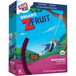 Clif kid organic zfruit mixed berry twisted fruit rope - 0.7 oz