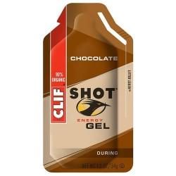 Clif organic shot energy gel, chocolate - 12 oz, 24 pack