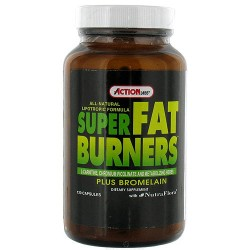 Action Labs super fat burners plus bromelain capsules - 120 ea