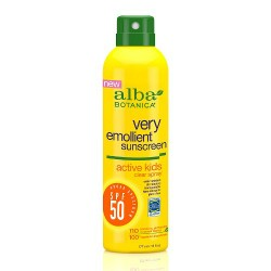 Alba Botanica Emollient Sunscreen Active Kids Clear Spray SPF 50 - 6 oz