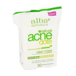 Alba Botanica Hawaiian Natural Acne Dote Clean And Treat Towelettes - 30 ea