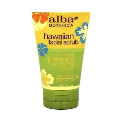 Alba Botanica Hawaiian facial scrub with pineapple enzyme- 4 oz