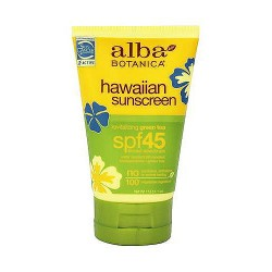 Alba Botanica Hawaiian green tea SPF 45 natural sunblock - 4 oz