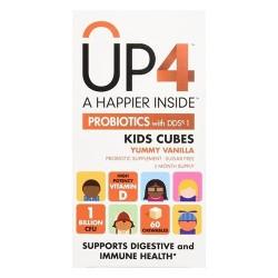 UP4 Probiotics with DDS1 Kids Cubes Chewables,Vanilla, 60 ea