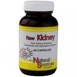 Natural Sources Raw Kidney Caplets - 60 ea
