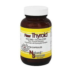 Natural Sources Raw Thyroid Capsules - 60 ea