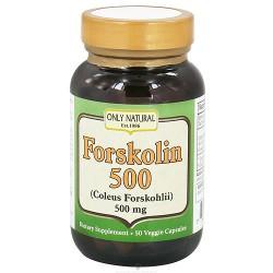 Only Natural Forskolin 500 mg Vegetarian Capsules - 50 ea