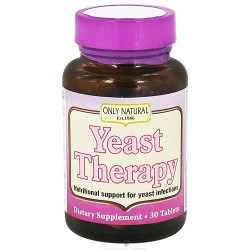 Only Natural Yeast Therapy Tablets - 30 ea