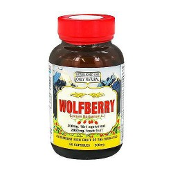 Only Natural Wolfberry 200 mg Capsules - 60 ea