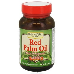 Only Natural Red Palm Oil 1000 mg Softgels For Weight Management - 60 ea
