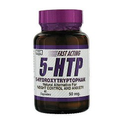 Only Natural 5-HTP 50mg Capsules - 45 ea