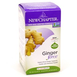 New chapter ginger force,liquid vegetable capsules  -  30 ea