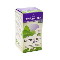 New Chapter Lemon Balm Force Vegetarian Capsules -30 ea