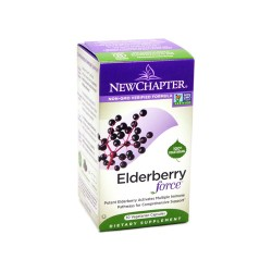 New chapter elderberry force vegetable capsules  -  30 ea