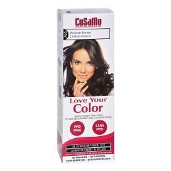 Cosamo love your color non-permanent hair color 765, Medium brown - 3 oz